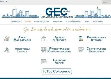 Sito internet di GEC Servizi